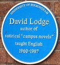 Image for David Lodge - The University of Birmingham - Edgbaston, Birmingham, U.K.