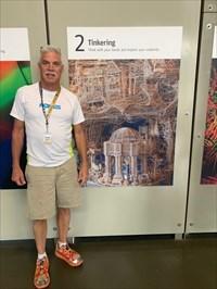 Scott Weaver at the Exploratorium, San Francisco, California