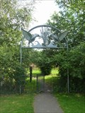 Image for Bird Gate to play area, Leominster, Herefordshire, England