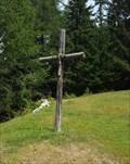 Image for Wooden Cross near Wyssi Flue - Visperterminen, VS, Switzerland