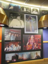 Beatles on a photo collage in the R&R Hall of Fame