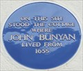 Image for John Bunyan Blue Plaque - St Cuthbert's Street, Bedford, UK