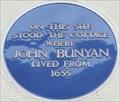 Image for John Bunyan Blue Plaque - St Cuthbert's Street, Bedford, UK