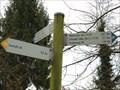 Image for Hiking Trail Arrows around Liblarer Lake, Abzweig Parkplatz Seestrasse, Erftstadt - NRW / Germany