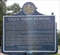 Image for Creek Indian Removal - Eufaula, AL