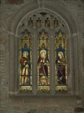 Image for Stained glass window in St Mellor's Church, Linkinhorne, Cornwall UK