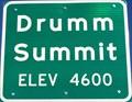 Image for Drumm Summit - Elevation 4600 feet