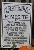 Image for Homesite of Capt. James R. & Jane Haquet Johnson