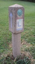 Image for Lincoln Highway Marker East of Chambersburg, Pennsylvania
