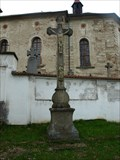 Image for Kríž u kostela sv. Lamberta/ cross in front of the church, Lipolec, Czech republic