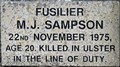 Image for Fusilier M. J. Sampson - Onchan, Isle of Man.