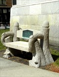 Image for Oak and Acorn Bench; Joliet Public Library - Joliet, IL