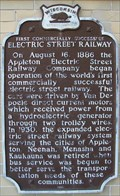 Image for First Commercially Successful Electric Street Railway Historical Marker