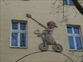 Image for Husita na kole / Hussite on bike - Praha - Žižkov, Czech republic