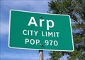 Image for Arp, TX - Population 970