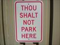 Image for Thou Shalt Not Park Here - Mesa, AZ