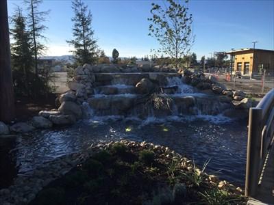 Facing Waterfall, San Jose, California