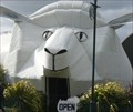 corrugated iron sheep and
