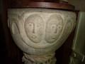 Image for Medieval Font - St LLawddog Church - Cenarth, Carmarthenshire, Wales.