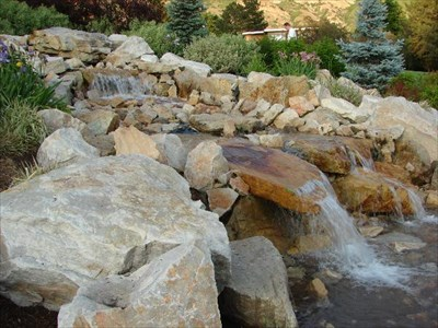 BYU Duck Pond amp; ManMade Waterfall  Manmade Waterfalls on Waymarking