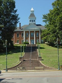 Photo shows the historic Common Pleas Courthouse.