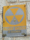 Image for Fallout Shelter Sign at the Milton Post Office - Milton, MA