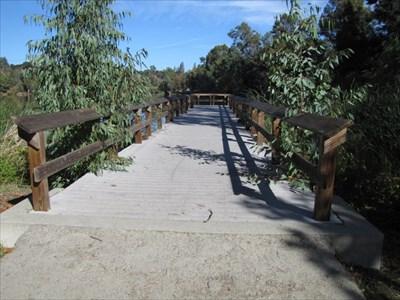From shore, looking out the pier, Vasona Lake Park, Los Gatos, CA