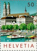 Image for Zurich Townscape featuring the Grossmünster - Zurich, Switzerland