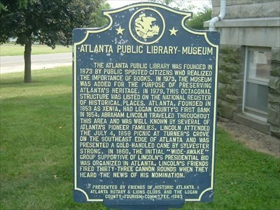 A closer up picture of the marker.