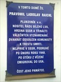 Image for Raichl's memorial plaque - Berovice, Czechia