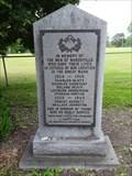 Image for Wardsville War Memorial - Wardsville, Ontario