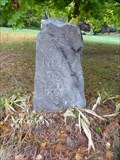 Image for Franklin Mile Marker - 33 Miles To Boston - 1767 Milestones - Northborough, MA[