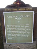 Image for Colfax County War
