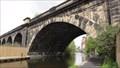 Image for Arch Railway Bridge 225F Over Leeds Liverpool Canal - Leeds, UK
