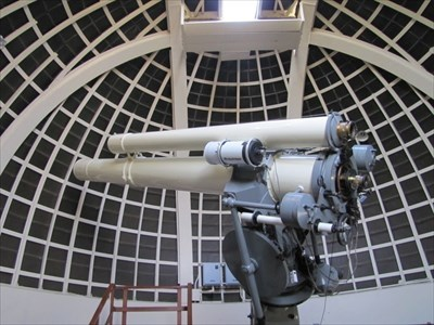 Telescope inside Griffith Observatory, Los Angeles, California