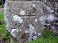 Image for Cut Bench Mark on St. Andrews Church, Alfriston, Sussex.
