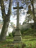 Image for Kríž u kostela/ cross near the church, Radenín, Czech republic