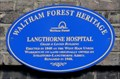 Image for Langthorne Hospital Blue Plaque