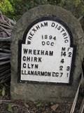 Image for Milestone, B4500, Pontfadog, Llangollen, Wrexham, Wales, UK
