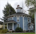 "Image for ""Lily Vale"", a blue octagon house  - Unadilla, NY"