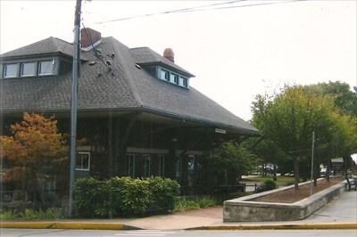 behind depot
