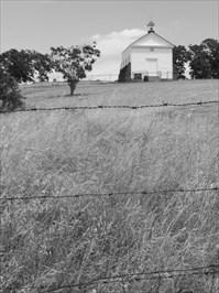 White Church Above the Fence, Hornitos, California