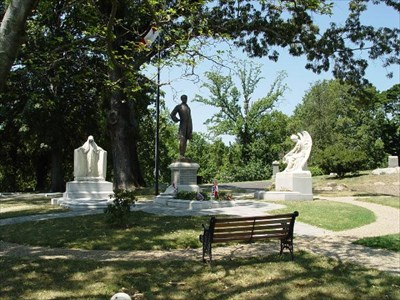 President Davis and His Family are buried in Jefferson Circle in Richmond's Hollywood Cemetery