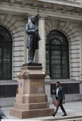 "Image for ""It's Queen Vic, talking Statue, on the line"" -- King Edward Street, City of London, UK"