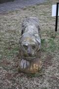Image for Ed Galloway Folk Art Sandstone Lions -- Foyil OK