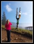 Image for Tourist Signpost at Dvoracky Mountain Challet - Rokytnice nad Jizerou, Czech Republic