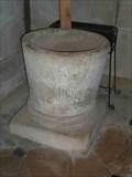 Image for Norman Font, St. Leonard's, Charlecote, Warwickshire, England