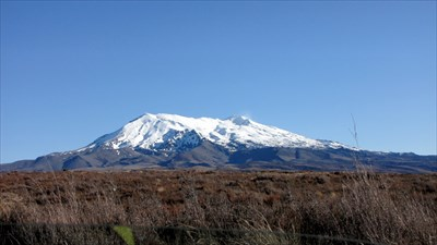 Mt Ruapehu with snow