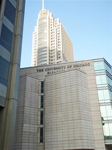 University of Chicago, NBC Tower (background)
