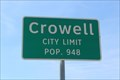 Image for Crowell, TX - Population 948